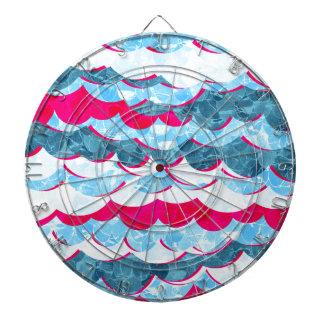 Abstract Sea Waves Design Dartboard