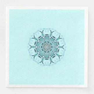 abstract seafoam paper dinner napkin