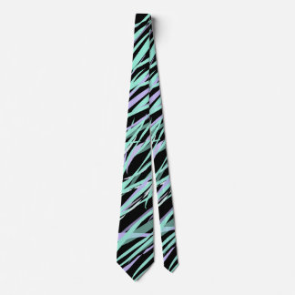 Abstract Seagrass in Aqua and Lavender Tie
