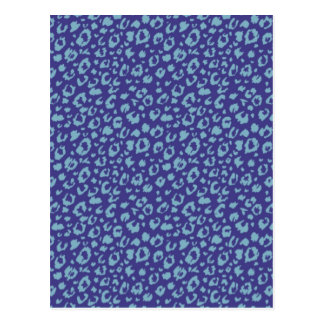 Abstract seamless pattern, blue 03 postcard