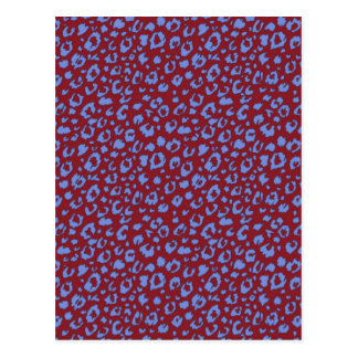 Abstract seamless pattern, blue red 03 postcard