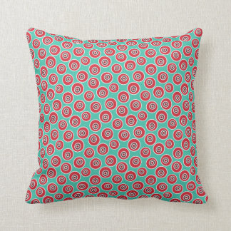 Abstract Seamless Vintage Pattern Throw Pillow