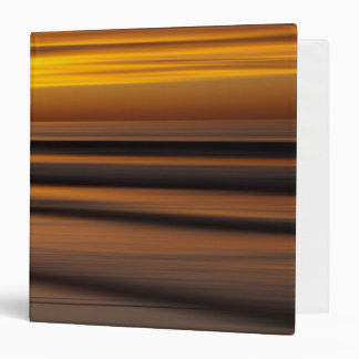 Abstract seascape at sunset, CA 3 Ring Binder