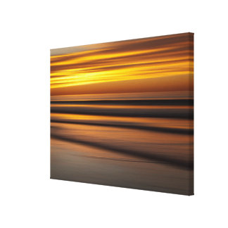 Abstract seascape at sunset, CA Canvas Print