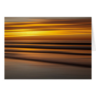Abstract seascape at sunset, CA Card