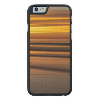 Abstract seascape at sunset, CA Carved® Maple iPhone 6 Case