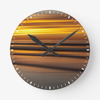 Abstract seascape at sunset, CA Clocks