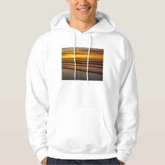 Abstract seascape at sunset, CA Hoodie