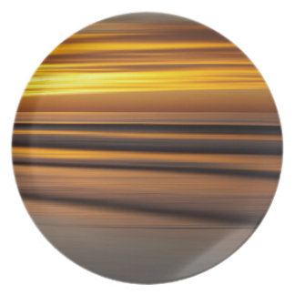 Abstract seascape at sunset, CA Party Plates