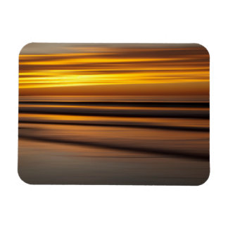 Abstract seascape at sunset, CA Rectangular Photo Magnet