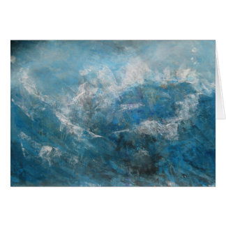 abstract seascape card