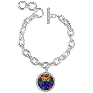 Abstract Seascape Charm Bracelet