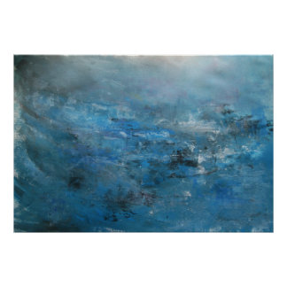 Abstract Seascape - Lights on Water Poster