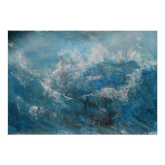 Abstract Seascape - Storm at Sea Poster
