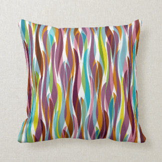 Abstract seaweed throw pillow