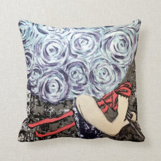 Abstract Shabby Chic Floral Pillow