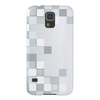 Abstract Shades of Grey Squares Galaxy S5 Covers