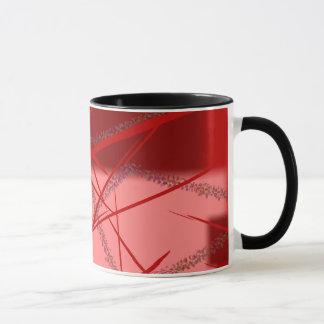 Abstract Shades of Red and Pink Mug