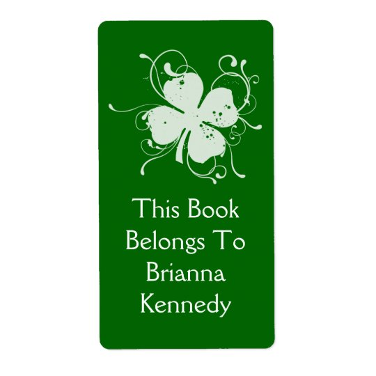 Abstract Shamrock Label Shipping Label