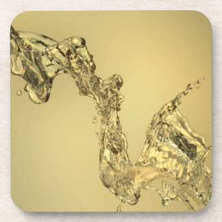 Abstract Shape Formed by Splashing Water Drink Coasters