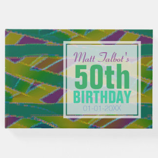 Abstract Shapes 50th Birthday Guest Book