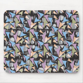 Abstract Shapes Collage Mouse Pad