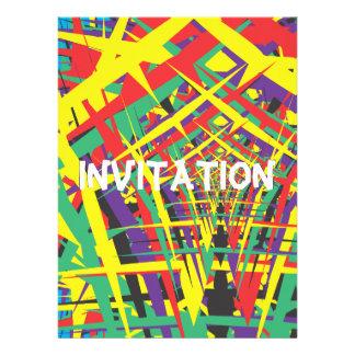 Abstract shapes invitation