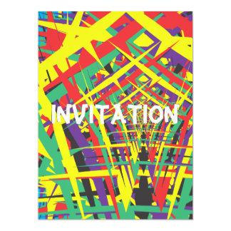 "Abstract shapes 6.5"" x 8.75"" invitation card"