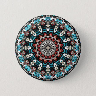 Abstract Shapes Mandala 2 Inch Round Button