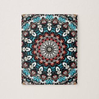 Abstract Shapes Mandala Jigsaw Puzzle