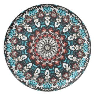 Abstract Shapes Mandala Plate