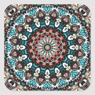 Abstract Shapes Mandala Square Sticker