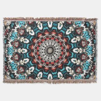 Abstract Shapes Mandala Throw Blanket