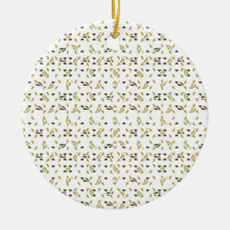 Abstract Shapes Pattern Ceramic Ornament