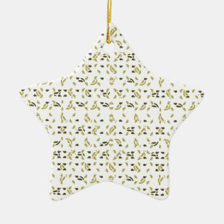 Abstract Shapes Pattern Ceramic Star Ornament