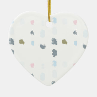 Abstract shapes pattern in pastel colors 2 ceramic ornament