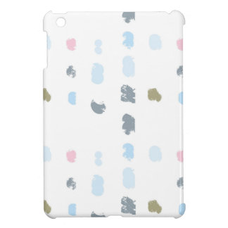 Abstract shapes pattern in pastel colors 2 iPad mini case