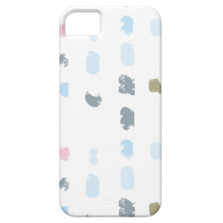 Abstract shapes pattern in pastel colors 2 iPhone 5 case