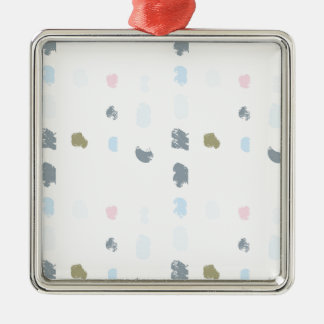 Abstract shapes pattern in pastel colors 2 metal ornament