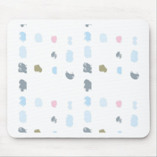 Abstract shapes pattern in pastel colors 2 mouse pad
