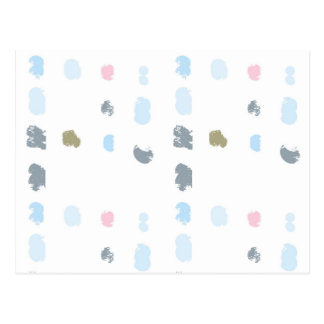 Abstract shapes pattern in pastel colors 2 postcard