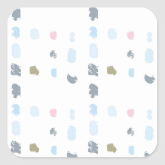 Abstract shapes pattern in pastel colors 2 square sticker