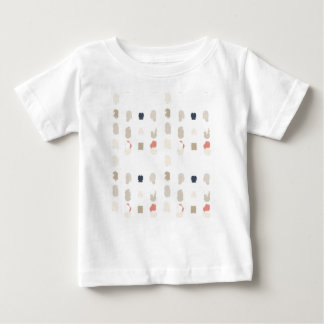 Abstract shapes pattern in pastel colors 3 baby T-Shirt
