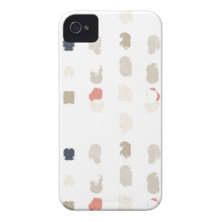 Abstract shapes pattern in pastel colors 3 Case-Mate iPhone 4 case