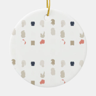 Abstract shapes pattern in pastel colors 3 ceramic ornament