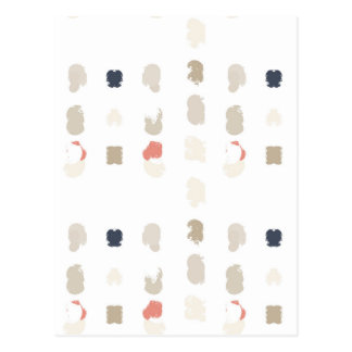 Abstract shapes pattern in pastel colors 3 postcard