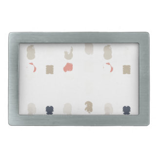 Abstract shapes pattern in pastel colors 3 rectangular belt buckle