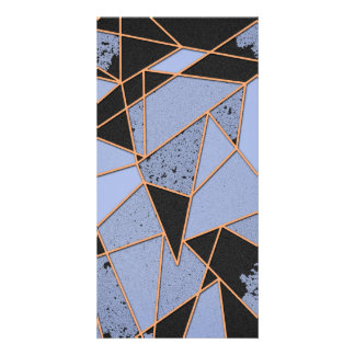 Abstract shattered personalized photo card