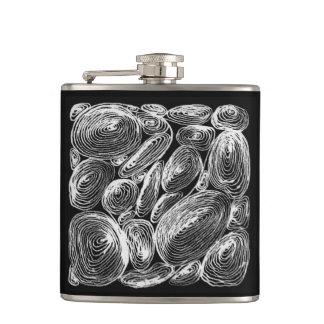 abstract shell stone hip flask