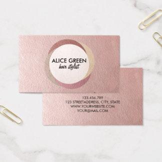 Abstract shiny circles business card